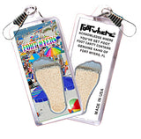 Fort Myers, FL FootWhere® Souvenir Zipper-Pull. Made in USA - FootWhere® Souvenirs