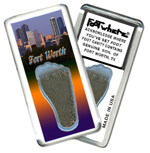 Fort Worth FootWhere® Souvenir Fridge Magnet. Made in USA - FootWhere® Souvenirs