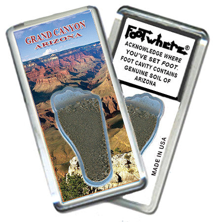 Grand Canyon, AZ FootWhere® Souvenir Magnet. Made in USA