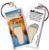 Hilton Head FootWhere® Souvenir Keychain. Made in USA - FootWhere® Souvenirs