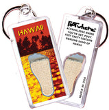 Hawaii FootWhere® Souvenir Keychain. Made in USA