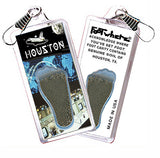 Houston FootWhere® Souvenir Zipper-Pull. Made in USA - FootWhere® Souvenirs