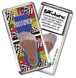 Indianapolis FootWhere® Souvenir Fridge Magnet. Made in USA - FootWhere® Souvenirs