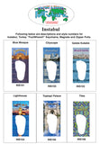Istanbul FootWhere® Souvenir Magnet. Made in USA - FootWhere® Souvenirs