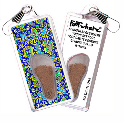 Istanbul FootWhere® Souvenir Zipper-Pull. Made in USA