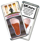 Jackson, MS FootWhere® Souvenir Magnet. Made in USA - FootWhere® Souvenirs