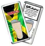 Jamaica FootWhere® Souvenir Fridge Magnet. Made in USA - FootWhere® Souvenirs