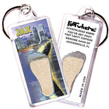 Jacksonville FootWhere® Souvenir Key Chain. Made in USA - FootWhere® Souvenirs
