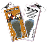 Kansas City FootWhere® Souvenir Zipper-Pull. Made in USA - FootWhere® Souvenirs