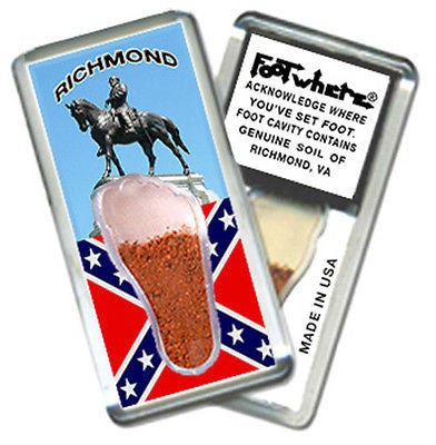 Richmond, VA FootWhere® Souvenir Magnet. Made in USA