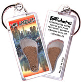 Los Angeles FootWhere® Souvenir Key Chain. Made in USA - FootWhere® Souvenirs