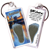 London, UK FootWhere® Souvenir Key Chain. Made in USA
