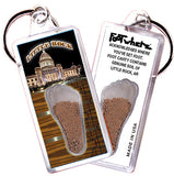 Little Rock FootWhere® Souvenir Keychain. Made in USA - FootWhere® Souvenirs