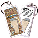 Marco Island FootWhere® Souvenir Key Chain. Made in USA - FootWhere® Souvenirs
