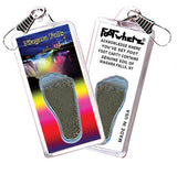 Niagara Falls, NY FootWhere® Souvenir Zipper-Pull. Made in USA