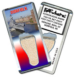 Norfolk FootWhere® Souvenir Fridge Magnet. Made in USA - FootWhere® Souvenirs