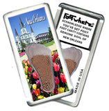 New Orleans FootWhere® Souvenir Magnet. Made in USA