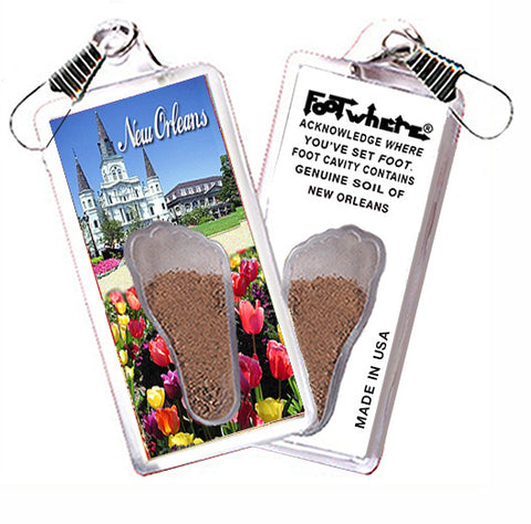 New Orleans FootWhere® Souvenir Zipper-Pull. Made in USA
