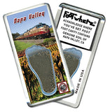 Napa Valley FootWhere® Souvenir Fridge Magnet. Made in USA