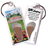 Nashville FootWhere® Souvenir Keychain. Made in USA - FootWhere® Souvenirs