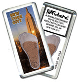New York City FootWhere® Souvenir Magnet. Made in USA