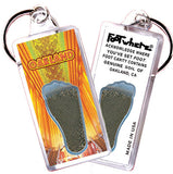 Oakland FootWhere® Souvenir Keychain. Made in USA - FootWhere® Souvenirs