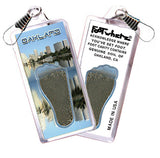 Oakland FootWhere® Souvenir Zipper-Pull. Made in USA - FootWhere® Souvenirs