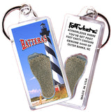 Outer Banks, NC FootWhere® Souvenir Keychain. Made in USA