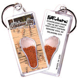Oklahoma City FootWhere® Souvenir Keychain. Made in USA - FootWhere® Souvenirs