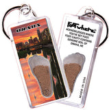 Omaha FootWhere® Souvenir Keychain. Made in USA - FootWhere® Souvenirs