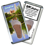 Omaha FootWhere® Souvenir Magnet. Made in USA - FootWhere® Souvenirs