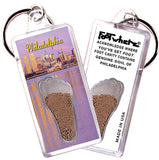 Philadelphia FootWhere® Souvenir Keychain. Made in USA - FootWhere® Souvenirs
