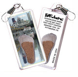 Pittsburgh FootWhere® Souvenir Zipper-Pull. Made in USA