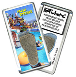 Palm Springs, CA FootWhere® Souvenir Fridge Magnet. Made in USA - FootWhere® Souvenirs