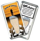 Turks & Caicos FootWhere® Souvenir Magnet. Made in USA