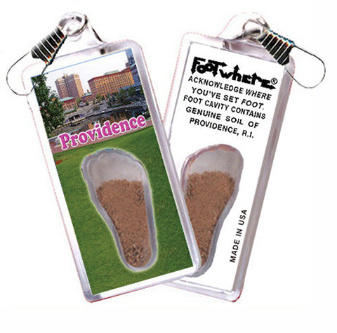 Providence FootWhere® Souvenir Zipper-Pull. Made in USA