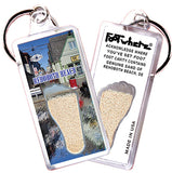 Rehoboth Beach, DE FootWhere® Keychain. Made in USA. - FootWhere® Souvenirs