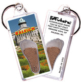Raleigh FootWhere® Souvenir Keychain. Made in USA - FootWhere® Souvenirs