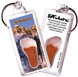 Mt. Rushmore FootWhere® Souvenir Key Chain. Made in USA