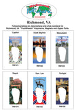 Richmond FootWhere® Souvenir Zipper-Pull. Made in USA