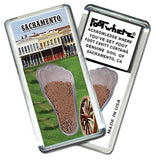 Sacramento FootWhere® Souvenir Fridge Magnet. Made in USA - FootWhere® Souvenirs