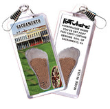 Sacramento FootWhere® Souvenir Zipper-Pull. Made in USA - FootWhere® Souvenirs