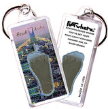 Saudi Arabia FootWhere® Souvenir Key Chain. Made in USA - FootWhere® Souvenirs