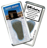 Saudi Arabia FootWhere® Souvenir Magnet. Made in USA - FootWhere® Souvenirs