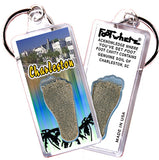 Charleston, SC FootWhere® Souvenir Key Chain. Made in USA - FootWhere® Souvenirs
