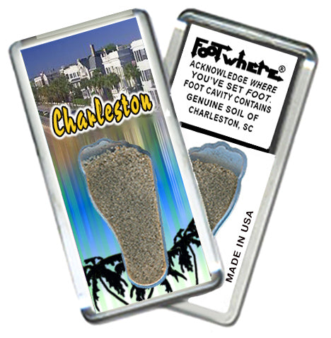 Charleston, SC FootWhere® Souvenir Magnet. Made in USA - FootWhere® Souvenirs