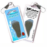 Seattle FootWhere® Souvenir Zipper-Pull. Made in USA - FootWhere® Souvenirs