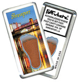 Shreveport FootWhere® Souvenir Magnet. Made in USA