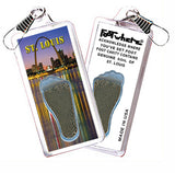 St. Louis FootWhere® Souvenir Zipper-Pull. Made in USA - FootWhere® Souvenirs