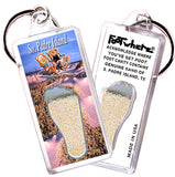 South Padre Island FootWhere® Souvenir Keychain. Made in USA - FootWhere® Souvenirs